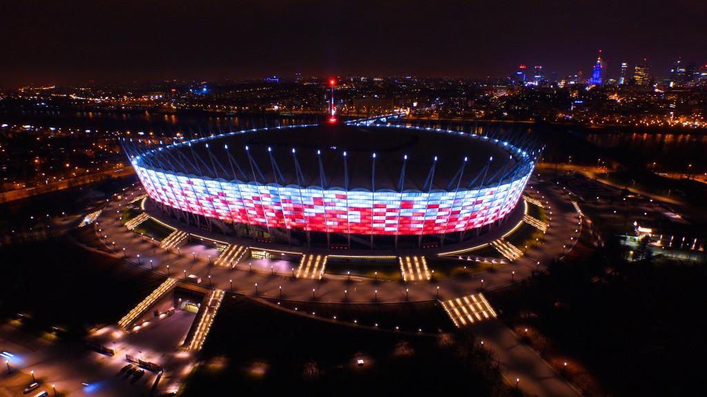 stadion narodowy z drona
